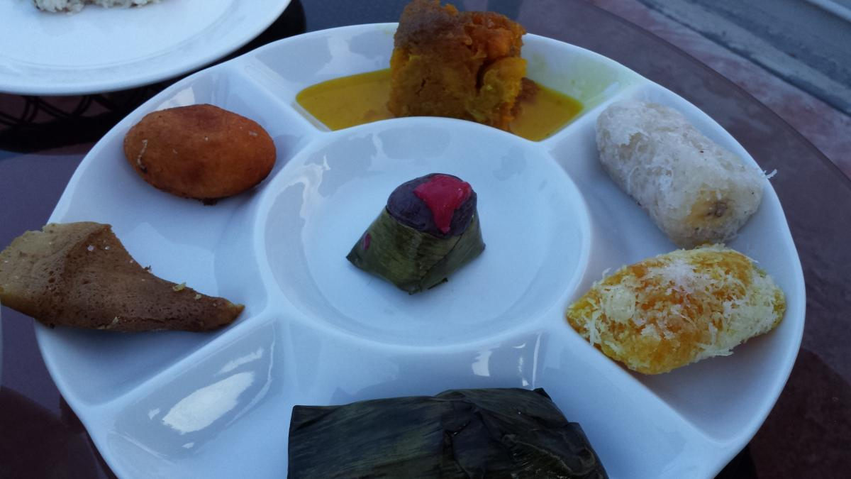 Selection of Kelantanese sweets and snacks for our Bagasta rooftop meal