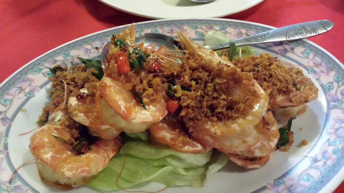 Butter Prawns at Fatty Crab