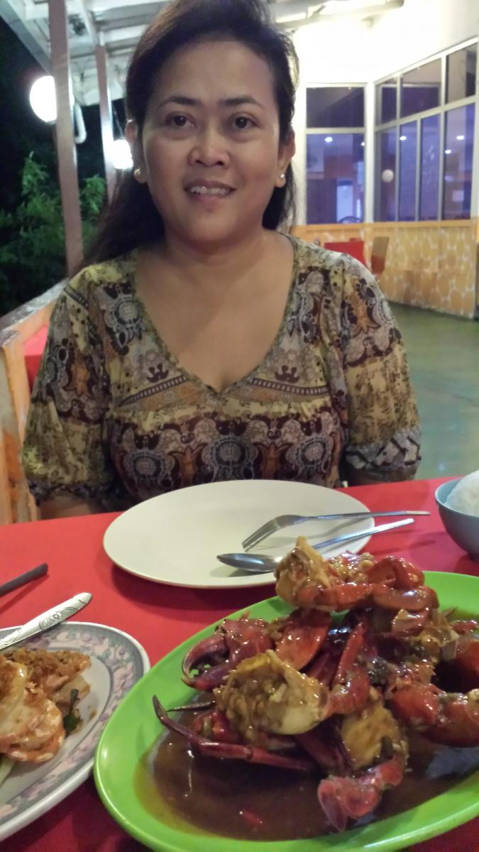 Delicious crab at Fatty Crab with Aspaliza